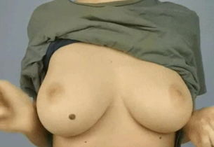 Huge-boobed Femmes Uncovers Her Globes..