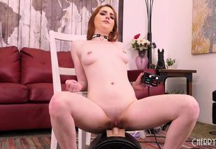 Flamy Sandy-haired Damsel Jerks With..