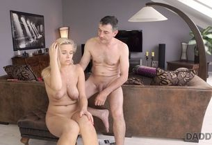 DADDY4K. Father penetrates throat and..