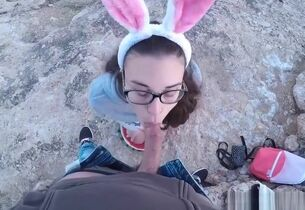 Hot bunny wants forth strive a carrot..